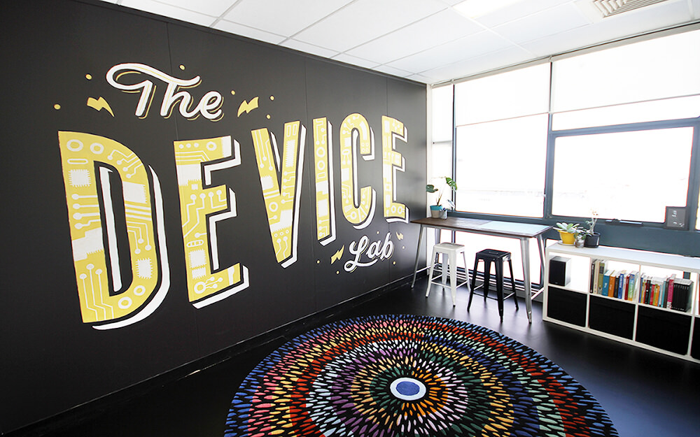 The Perth Device Lab mural