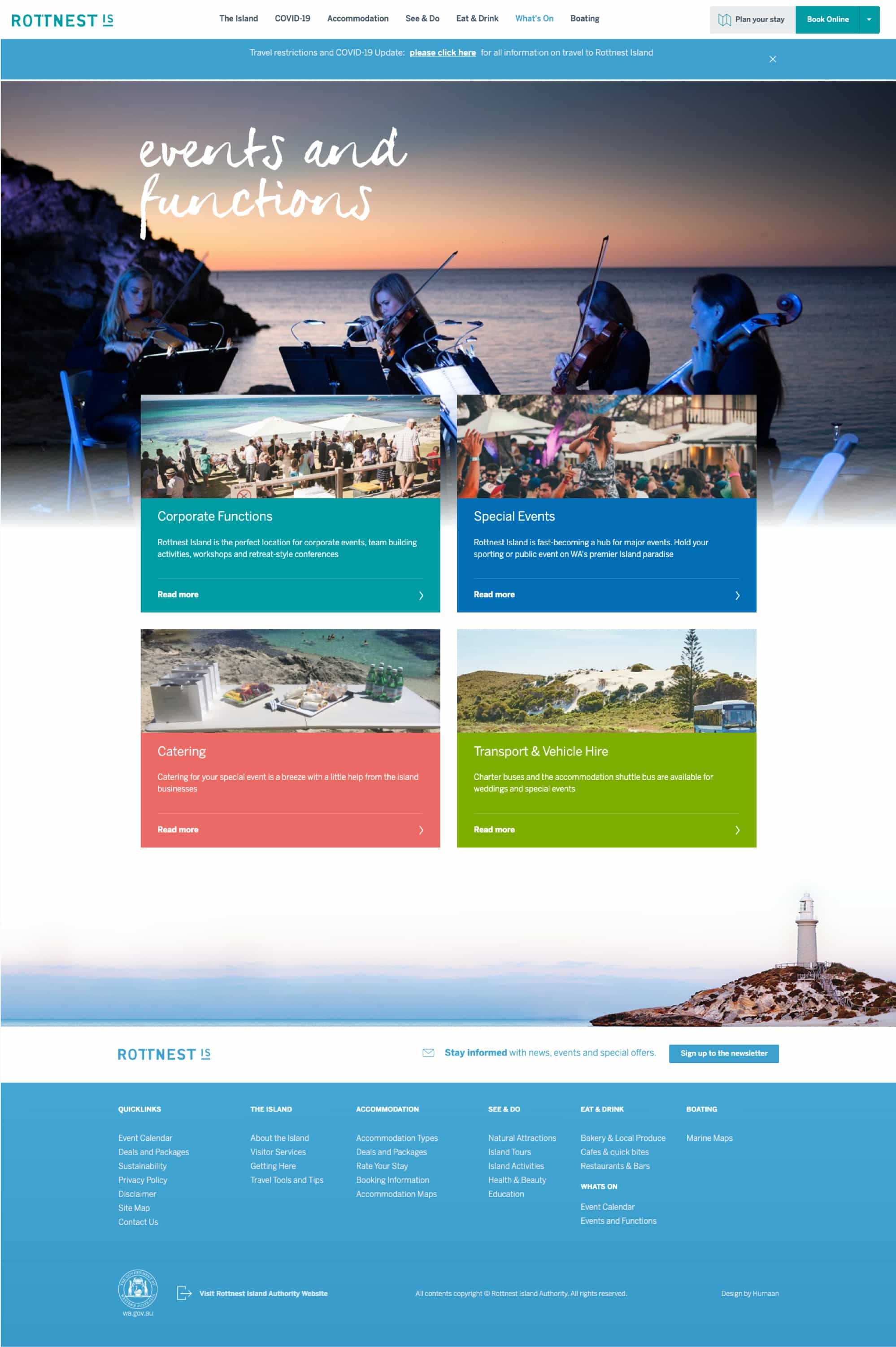 rottnest events and functions page
